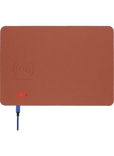Bludfire Deri Mouse Pad Wireless Kablosuz Şarj Özellikli / TABA RENGİ Kahve